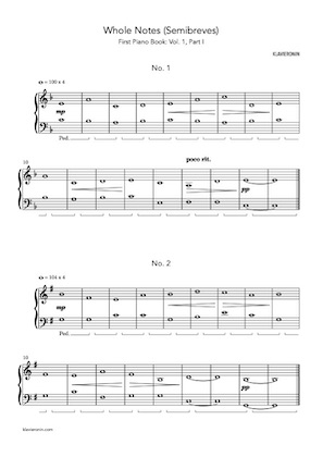 First Piano Book Vol.1 Part I - Score Sample Page 1