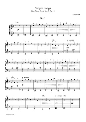 First Piano Book: Vol 3, Part II - Score Sample Page 1